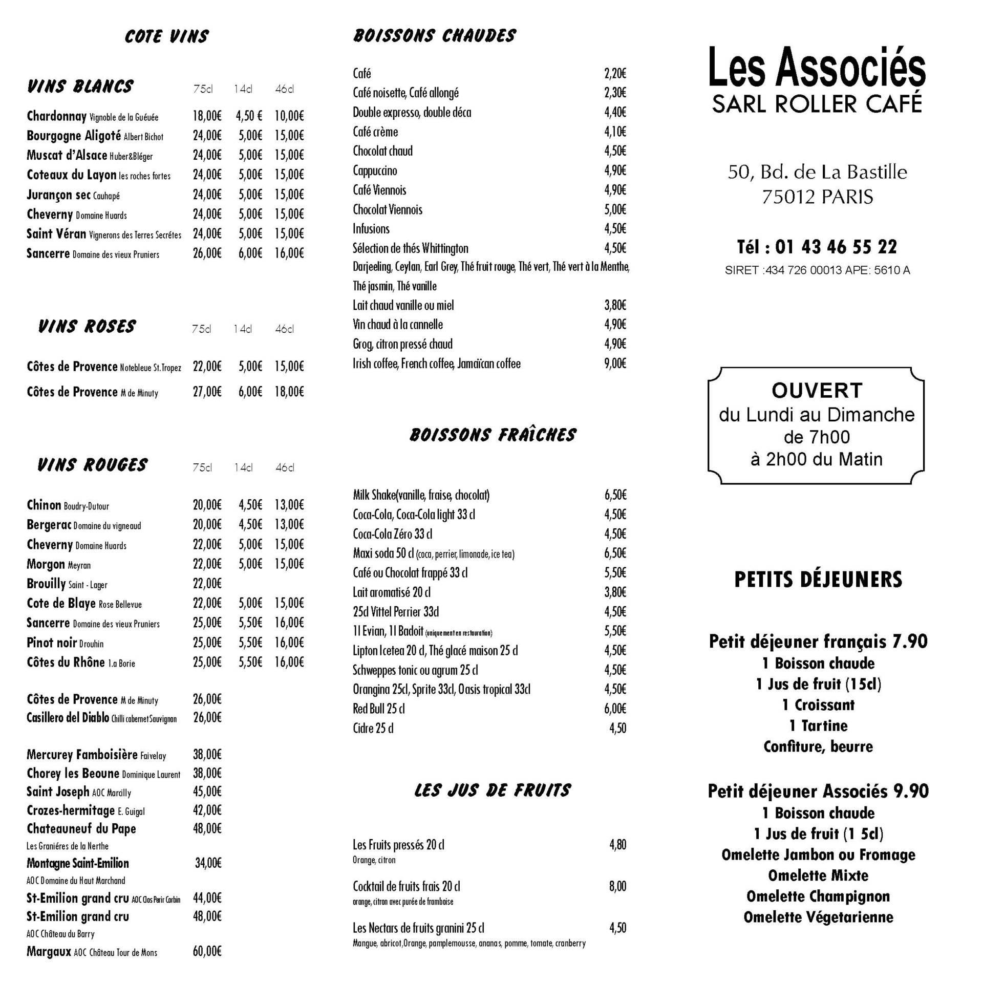 pizzeria Les Associés située à Paris 12e